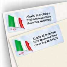 Italian Flag Address Labels