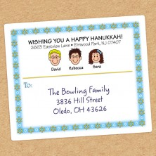 Jewish Stars Family Shipping Label
