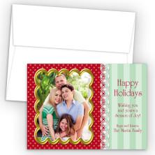 Lace Photo Upload Holiday Card