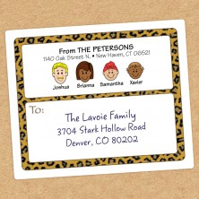 Leopard Family Shipping Labels