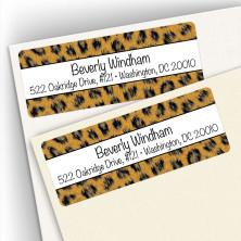 Leopard Pattern Address Labels