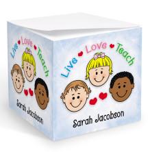 Live Love Teach Memo Cube