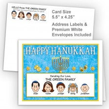 Menorah 2 Happy Hanukkah Fold Note Set