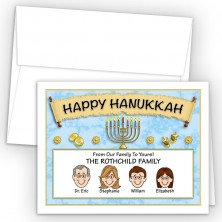 Menorah Scroll Happy Hanukkah Holiday Fold Note Head