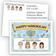 Menorah Scroll Happy Hanukkah Fold Note Set