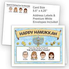 Menorah Scroll Happy Hanukkah Fold Note Set
