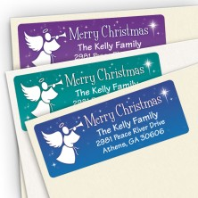 Merry Christmas Angels Address Labels