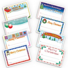 Large Merry Christmas Gift Labels