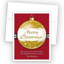 Merry Christmas Ornament Style K Holiday Cards