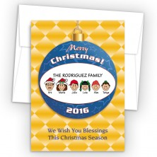 Merry Christmas Ornament Style J Christmas Cards