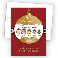 Merry Christmas Ornament Style K Christmas Cards