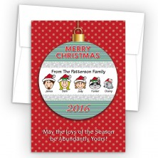 Merry Christmas Ornament Style O Christmas Cards