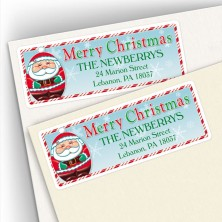 Merry Christmas Santa Address Labels