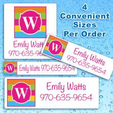Monogram 17 Waterproof Name Labels For Kids