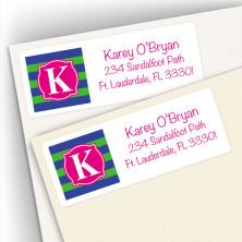 Monogram Address Label 9