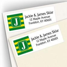 Monogram Address Label School Colors 10