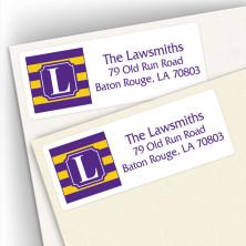 Monogram Address Label School Colors 11