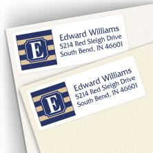 Monogram Address Label School Colors 5