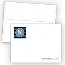 Monogram Flat Note Card 3