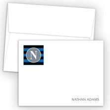 Monogram Flat Note Card 3