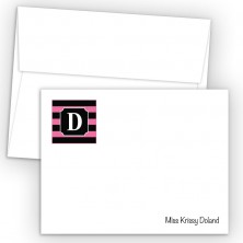 Monogram Flat Note Card 4