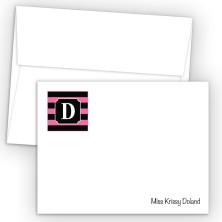 Monogram Flat Note Card 4