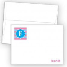 Monogram Flat Note Card 6