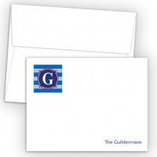 Monogram Flat Note Card 7