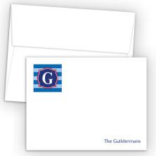 Monogram Flat Note Card 7