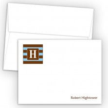 Monogram Flat Note Card 8