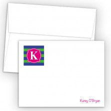 Monogram Flat Note Card 9