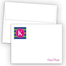 Monogram Flat Note Card 9