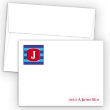 Monogram Flat Note Card 10