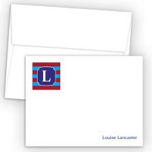 Monogram Flat Note Card 11