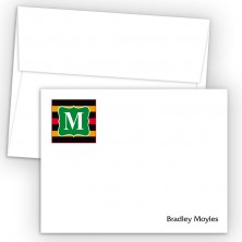 Monogram Flat Note Card 12