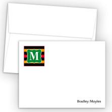 Monogram Flat Note Card 12