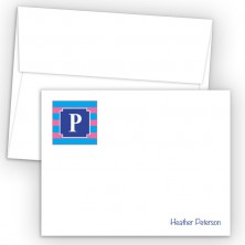Monogram Flat Note Card 13