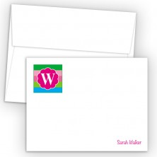 Monogram Flat Note Card 15