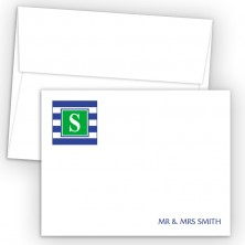 Monogram Flat Note Card 16