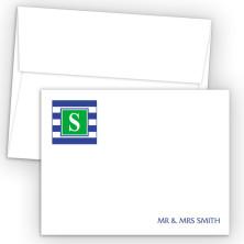 Monogram Flat Note Card 16
