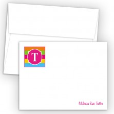 Monogram Flat Note Card 17