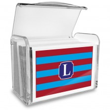 Monogram Fold Over Note Cards 11 with Acrylic Holder