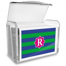 Monogram Fold Over Note Cards 14 with Acrylic Holder