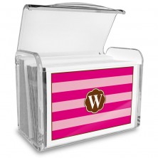 Monogram Fold Over Note Cards 18 with Acrylic Holder