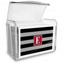 Monogram Fold Over Note Cards 5 with Acrylic Holder