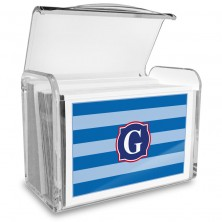 Monogram Fold Over Note Cards 7 with Acrylic Holder