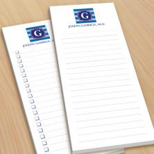 Monogram List Pad 7 - With Magnets