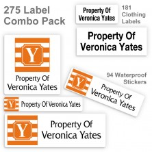 Monogram School Color 15 Label Combo Pack