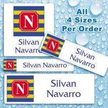 Monogram School 9 Color Waterproof Name Labels For Kids