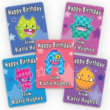 Monster Cuties Mini Gift Labels